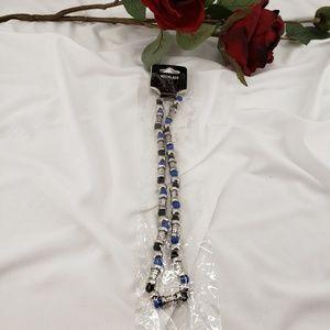 Jewelry - Unisex Necklace Black, Blue & Silver